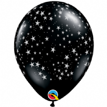 Stars-A-Round (Black) - 11 Inch Balloons 25pcs